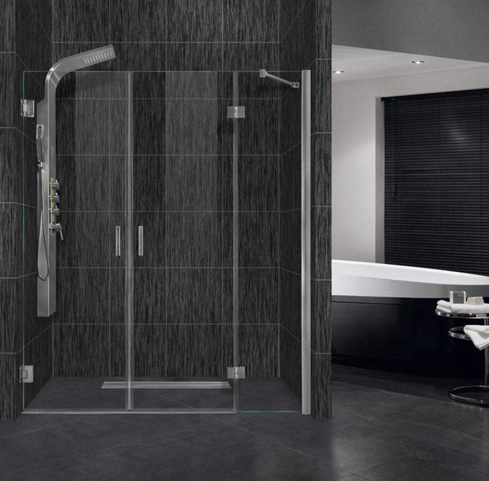 Εντοιχισμένο ντουζ διπλή πόρτα