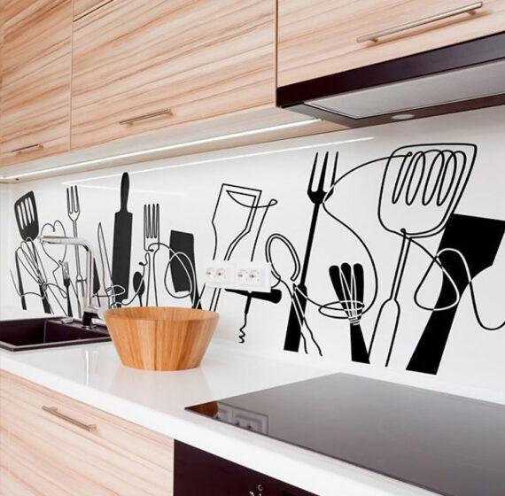 Γυάλινη πλάτη κουζίνας εκτύπωση