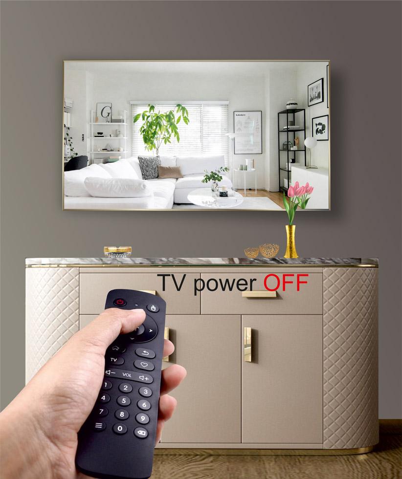 Με το πάτημα ενός κουμπιού, ο καθρέπτης σας μετατρέπεται μαγικά σε τηλεόραση χάρη στην υψηλή τεχνολογία της magical glass. Δώστε στο χώρο σας την μοναδική αίσθηση πολυτέλειας του καθρέπτη ταυτόχρονα με τη αναγκαιότητα της τηλεόρασης κερδίζοντας χώρο και τις εντυπώσεις. Μπορείτε να χρησιμοποιήσετε την TV Mirror στο σαλόνι, την κρεβατοκάμαρα, το παιδικό δωμάτιο, το γραφείο, τον επαγγελματικό σας χώρο και όπου αλλού εσείς θέλετε, απολαμβάνοντας την πολυτέλεια ενός καθρέπτη με την χρηστικότητα μίας τηλεόρασης!