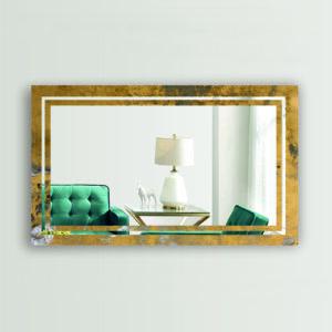 Διακοσμητικός καθρέπτης τοίχου με τεχνολογία ψηφιακής εκτύπωσης περιμετρικά