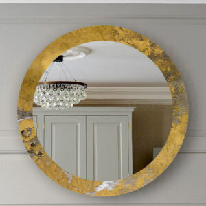 Διακοσμητικός καθρέπτης τοίχου με τεχνολογία ψηφιακής εκτύπωσης σε χρυσό περιμετρικά