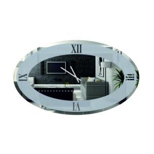 Ρολόι τοίχου οβάλ με σχέδιο αμμοβολής led φωτισμό και μηχανισμό ρολογιού ακριβείας