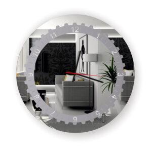 Ρολόι τοίχου στρογγυλό με σχέδιο αμμοβολής led φωτισμό και μηχανισμό ρολογιού ακριβείας