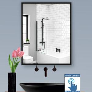 Καθρέπτης μπάνιου ή τοίχου με κορνίζα αλουμινίου ανθεκτική στην υγρασία σε τέσσερα χρώματα ασημί,λευκό,χρυσό και μαύρο.